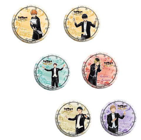ハイキュー!! 「ハイキュー!!コンサート」 トレーディング缶バッジ【全6種】ランダム1個